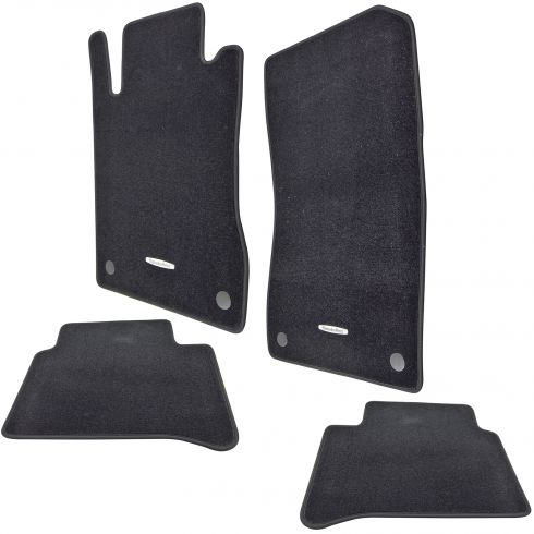 03-09 MB E320, E350, E500, E550, E55 AMG Embrd ~Mercedes Benz~ Blk Carpeted Flr Mat (Set of 4) (MB)