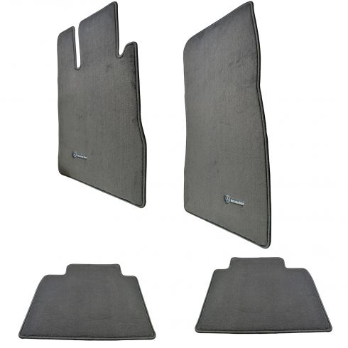 00-06 MB S430, S500, S600, S55 AMG Embrd ~Mercedes Benz~ Ash Carpeted Floor Kit (Set of 4) (MB)
