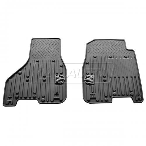 13-14 Ram 1500 Crew Cab, 2500, 3500 Crew & Mega Cab Black Front Rubber Slush Floot Mat SET (MOPAR)