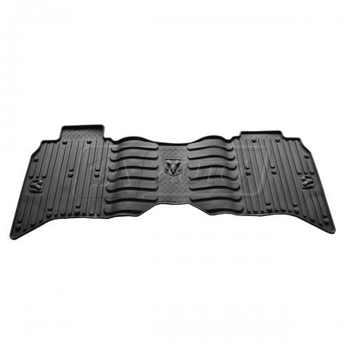 13-14 Ram 1500 Crew Cab, 2500, 3500 Crew & Mega Cab Black Rear Rubber Slush Floot Mat SET (MOPAR)