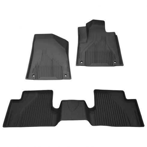 14-15 Jeep Cherokee Front & Rear Molded Black Rubber Slush Floor Mat SET (MOPAR)