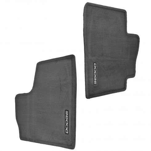 98-02 Dodge Ram 1500, 2500, 3500 Dark Gray Carpeted Front Floor Mat PAIR (Mopar)