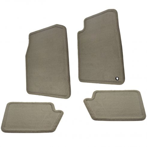 01-06 Chrysler Sebring Convertible Front & Rear Dark Taupe Carpeted Floor Mats (Set of 4) (Mopar)