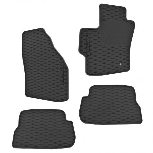 06-09 Mazda 3 (4 & 5dr); 07-09 MazdaSpeed3 Molded Rubber All Weather Floor Mats (Set of 4) (Mazda)