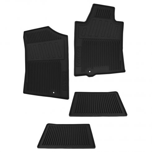 09-14 Nissan Maxima Frnot & Rear Black Rubber Floor Mat (Set of 4) (Nissan)