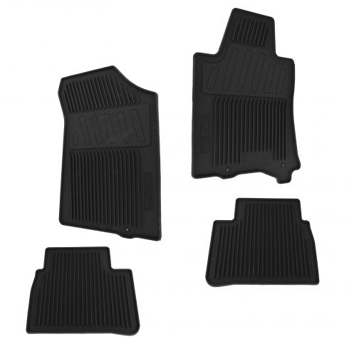 13-15 Nissan Altima Black Molded Rubber All Weather Floor Mats (Set of 4) (Nissan)