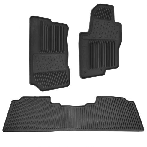 09-14 Nissan Frontier Crew Cab Black Molded Rubber All Weather Floor Mats (Set of 4) (Nissan)