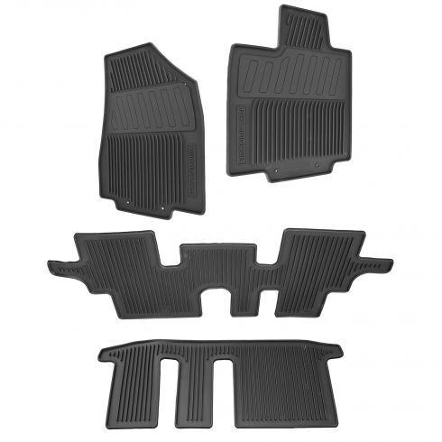 13-15 Nissan Pathfinder Black Molded Rubber All Weather Floor Mats (Set of 4) (Nissan)