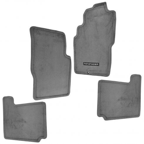 01-04 Nissan Pathfinder Charcoal Carpeted Embroidered