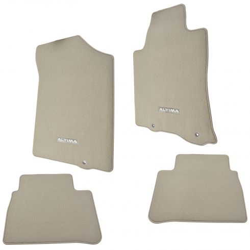 13-15 Nissan Altima Embroidered ~ALTIMA~ Beige Carpeted Front & Rear Floor Mat Kit (Set of 4) (NS)