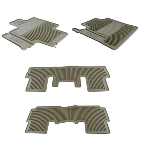 11-16 Quest w/3rd Row Seat Mld Beige Rubber ~QUEST~ Logoed All Weather Floor Mat Kit (Set of 4) (NS)