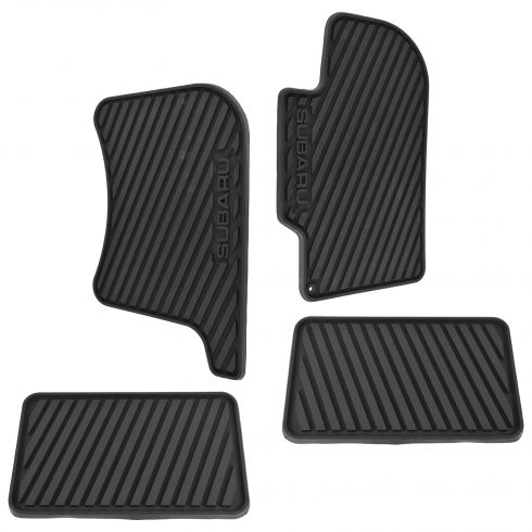 00-07 Impreza, WRX, Sti Molded Blk Rbr ~SUBARU~ Logoed All Weather Floor Mat Kit (Set of 4) (Subaru)