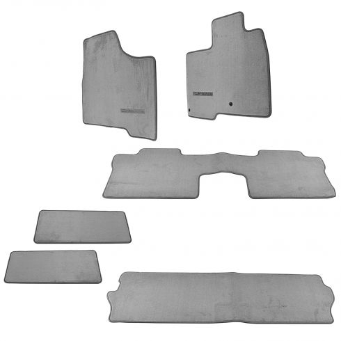 04-10 Toyota Sienna 7 Passenger Front & Rear Stone Gray Carpet Floor Mat Set (6 Piece)