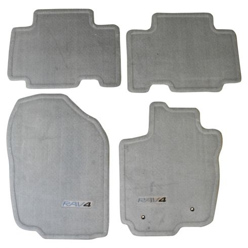 06-16 Toyota Rav4 (w/o 3rd Row) Embroidered ~RAV4~ Ash Gray Carpeted Floor Mat Kit (Set of 4) (TY)
