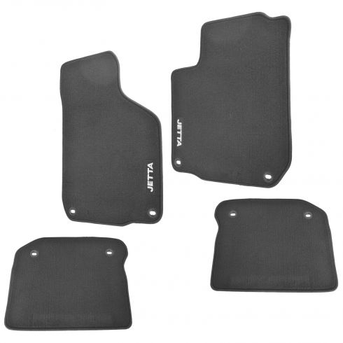 00-05 Jetta Sdn or WagonMK4 Black Carpeted ~JETTA~ Logoed ~MojoMats~ Floor Mats (Set of 4) (VW)