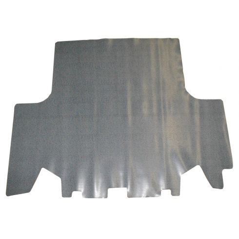 1970-73 Dodge Dart Trunk Mat Rubber Gray Herringbone Print