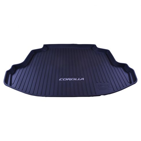 14-15 Toyota Corolla Molded Black Rubber ~COROLLA~ Logoed All Weather Trunk Cargo Liner Mat (TY)
