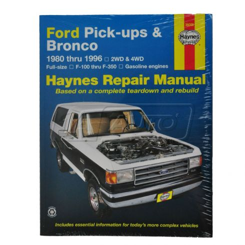 Ford Full Size Pickup and Bronco Haynes Repair Manual