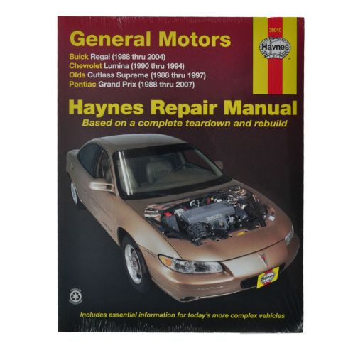 Century Regal Lumina Grand Prix Haynes Repair Manual