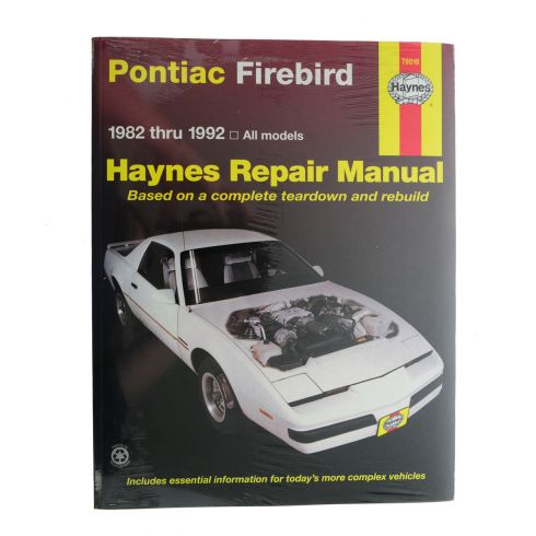 1982-92 Pontiac Firebird Haynes Repair Manual