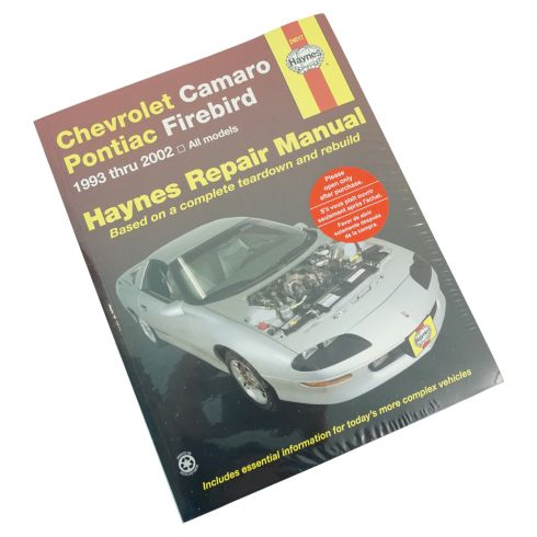 1993-02 Chevy Camaro Pontiac Firebird Haynes Repair Manual