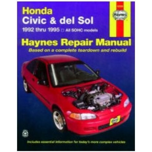 1992-95 Honda Civic and Del Sol Haynes Repair Manual