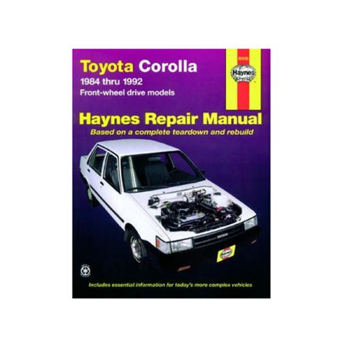 1984-92 Toyota Corolla Haynes Repair Manual