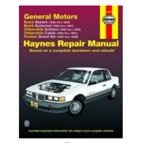 1985-98 Skylark Somerset Achieva Calais Grand Am Haynes Repair Manual