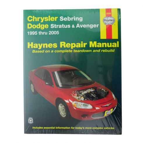 1995-05 Dodge Stratus Avenger Chrysler Sebring Haynes Repair Manual