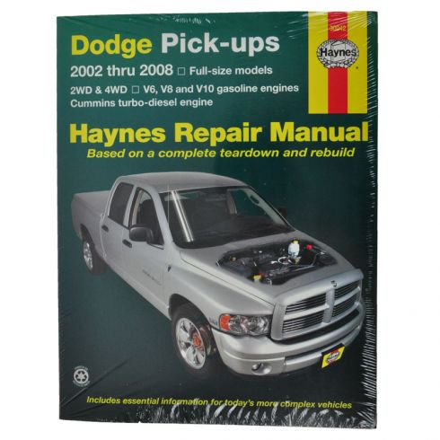 2002 08 dodge haynes repair manual 1amnl00059 at 1a. Black Bedroom Furniture Sets. Home Design Ideas