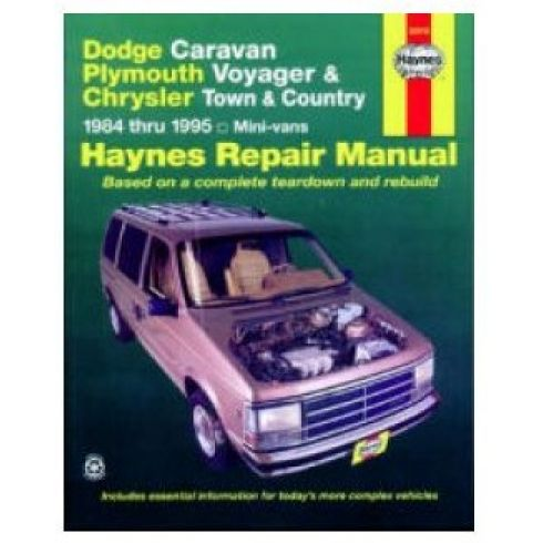 1984-95 Dodge Chrysler Plymouth Caravan Voyager Town & Country Haynes Repair Manual