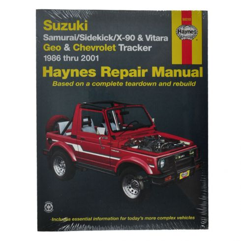 Sidekick Haynes Repair Manual