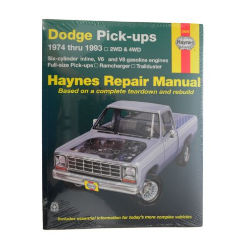 1974-93 Dodge Pickup Full Size Haynes Repair Manual