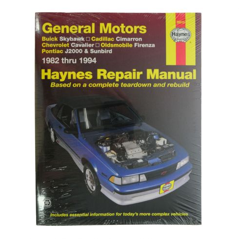 Skyhawk Cimarron Cavalier J2000 Haynes Repair Manual