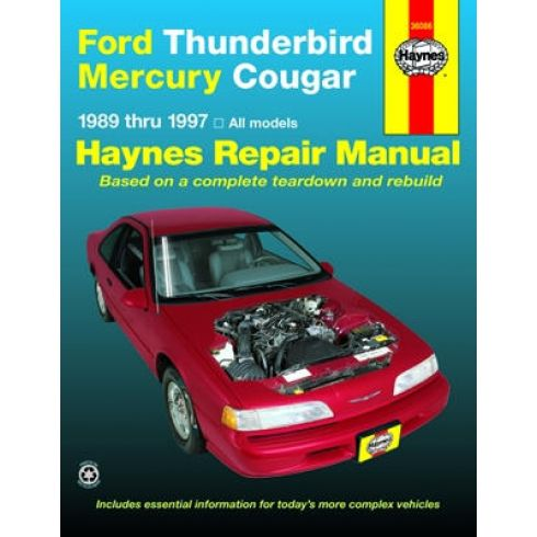 1989-97 Ford Thunderbird Mercury Couger Haynes Repair Manual