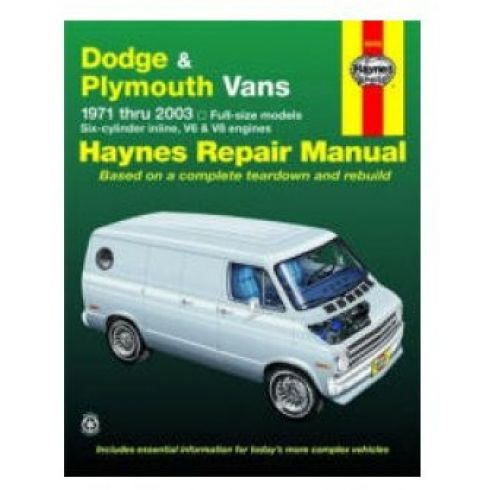 71-03 Dodge and Plymouth Van Haynes Repair Manual