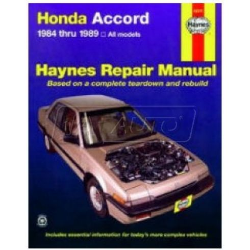 84-89 Honda Accord Haynes Repair Manual