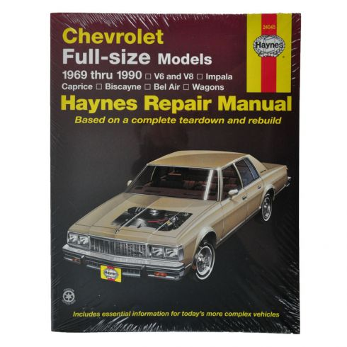 Chevy Caprice Impala Belair Haynes Repair Manual