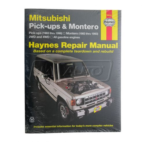 1983-96 Mitsubishi Pickup Montero Haynes Repair Manual