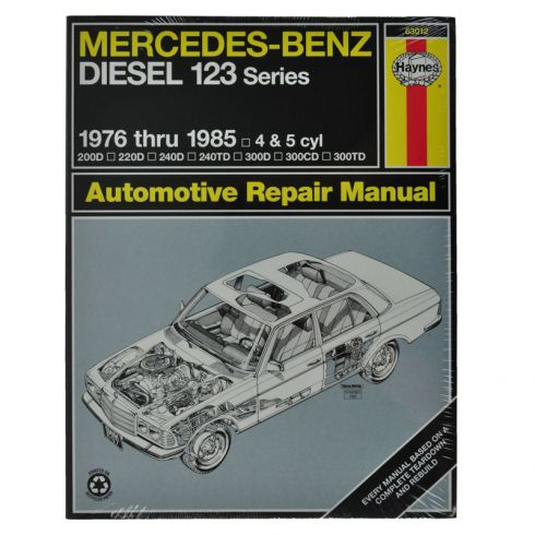 Mercedes Benz Haynes Repair Manual for Diesel 123 Models