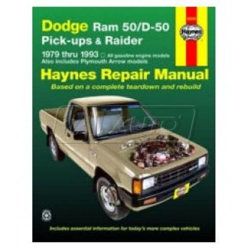 1979-93 Dodge D-50 Pickup Raider Haynes Repair Manual