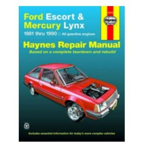 1981-90 Ford Escort Mercury Lynx Haynes Repair Manual