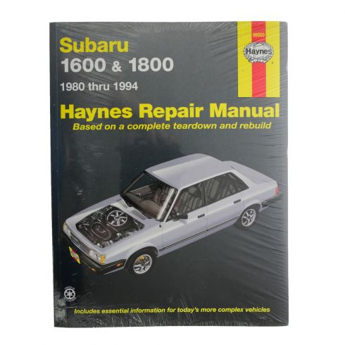 1980-94 Subaru 1600 1800 XT Brat Haynes Repair Manual