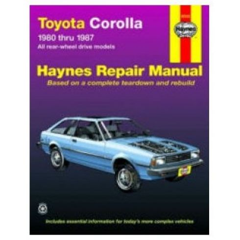 1980-87 Toyota Corolla Haynes Repair Manual