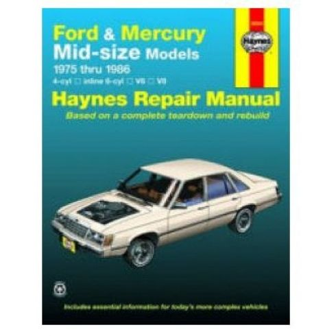 1975-86 Ford Mercury T-Bird Couger Torino Haynes Repair Manual