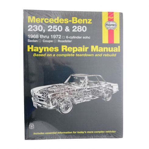 1968-72 Mercedes Benz 230 250 280 Haynes Repair Manual
