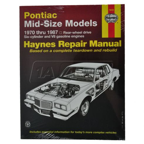 Grand Prix Lemans Haynes Repair Manual