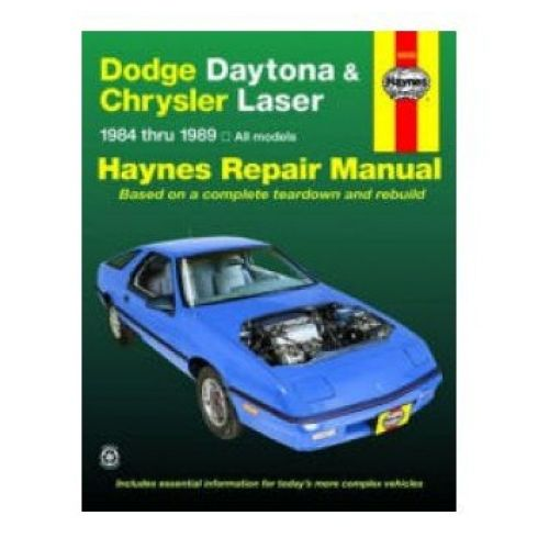 1984-89 Dodge Daytona Chrysler Laser Haynes Repair Manual