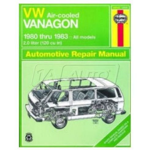 1980-83 VW Vanagon Air Cooled Haynes Repair Manual