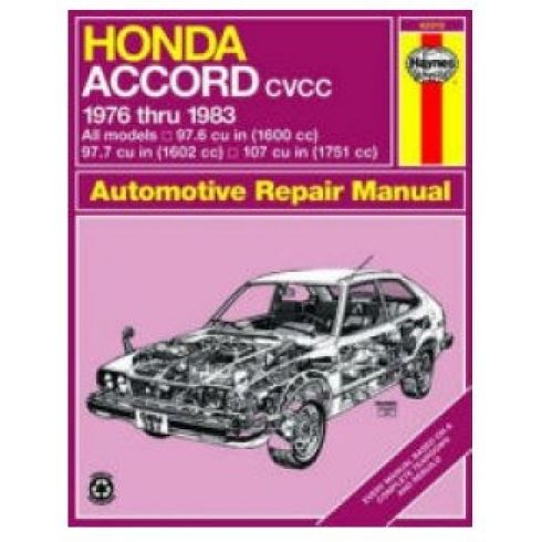 1976-83 Honda Accord CVCC Haynes Repair Manual